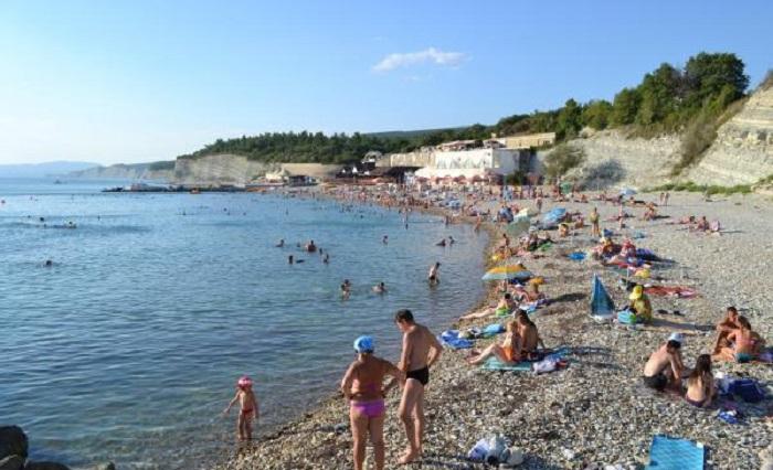 Пляж в кемпинге Лесник