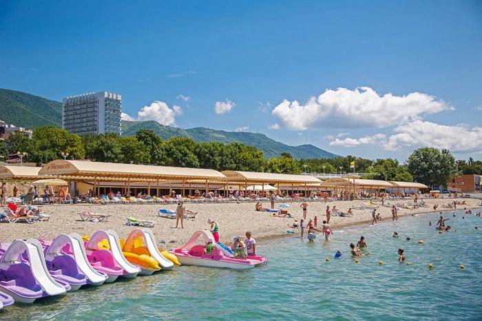 Пляж пансионата «Приветливый берег»