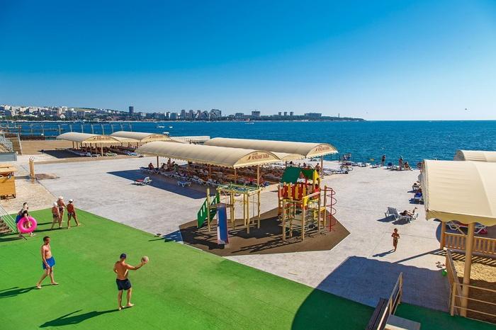Пляж пансионатов «Черноморец» и «Красная Талка»
