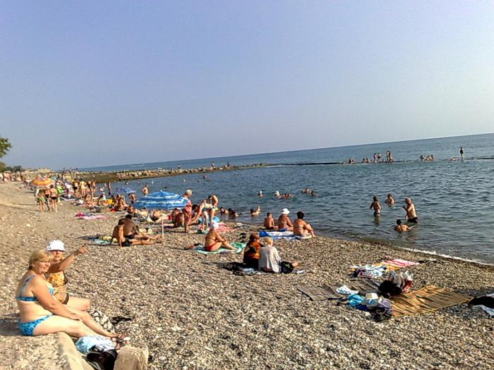 Пляж поселка Весна1