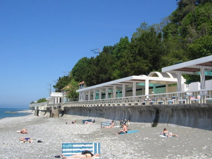 пляж Лазурный берег Головинка1