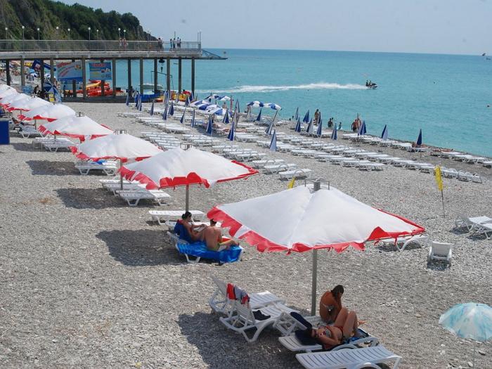 пляж гостиницы гамма ольгинка