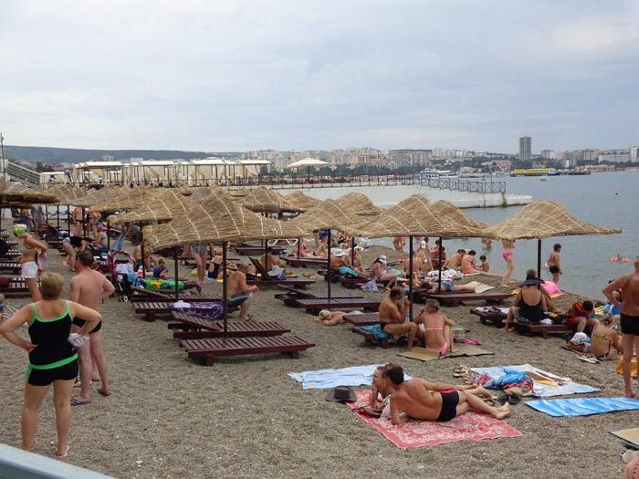 пляж санатория дружба геленджик