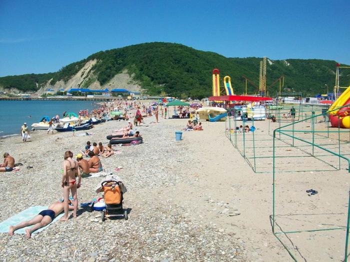 центральный пляж - ольгинка