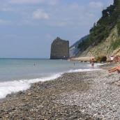 Пляжи Прасковеевки – у скалы «Парус», центральный: фото, отзывы
